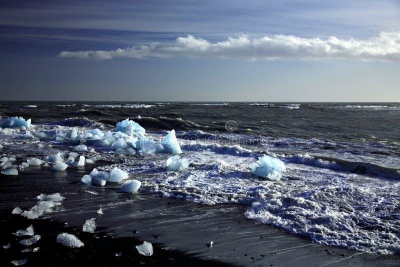 Fragmentos de icebergs fotografía de archivo