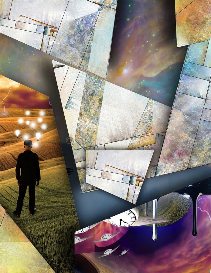 Fragmentos de la realidad ilustración del vector