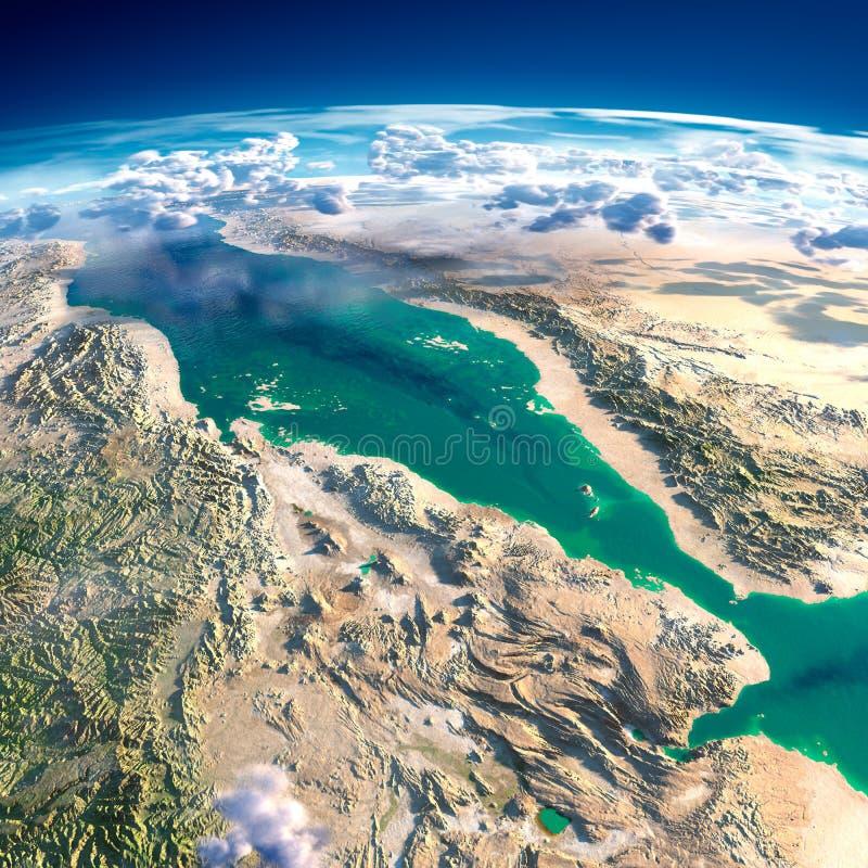 Fragmentos de la tierra del planeta Mar Rojo libre illustration