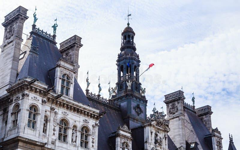 Fragmentos Hotel-de-Ville ayuntamiento imágenes de archivo libres de regalías