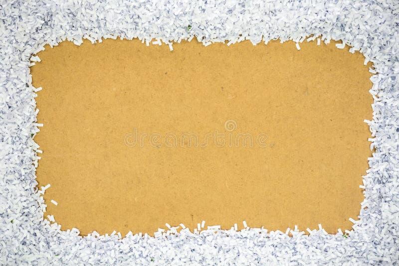 Fragmentpapier von der Perforierung stockbilder