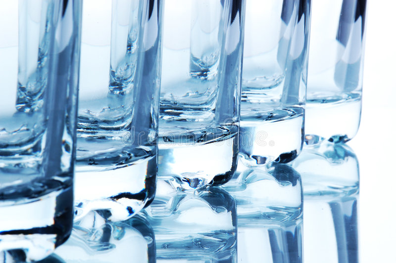 Fragments of bar glasses royalty free stock images