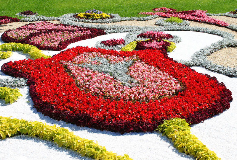 Fragments of the compositions. Flower Show in Kiev royalty free stock photos