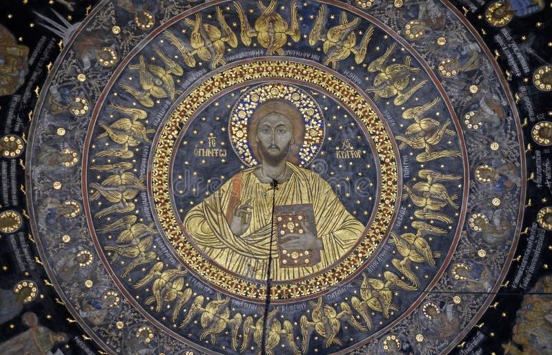 Fragments de Fresco dans le monastère de Bachkovo 2 photos libres de droits