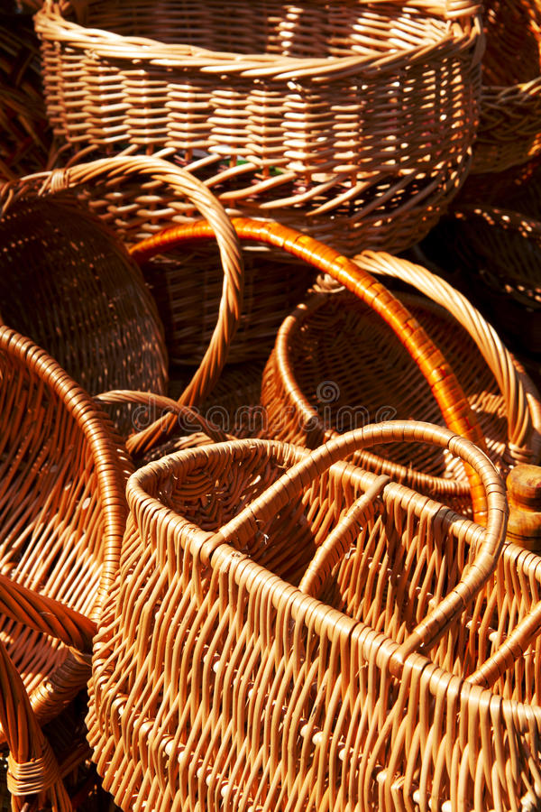 Free Fragments Of Empty Wicker Basket Royalty Free Stock Photography - 32935487