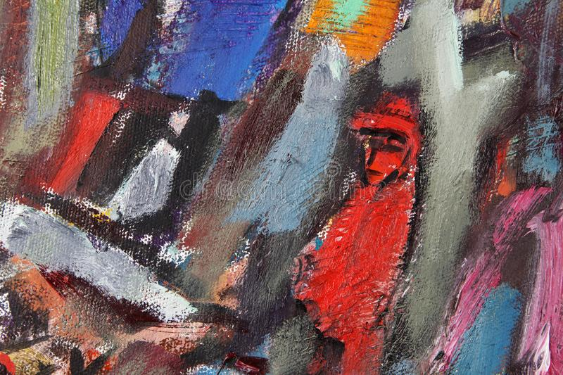 Fragmentschilderijen in de stijl van etnische avantgarde vector illustratie