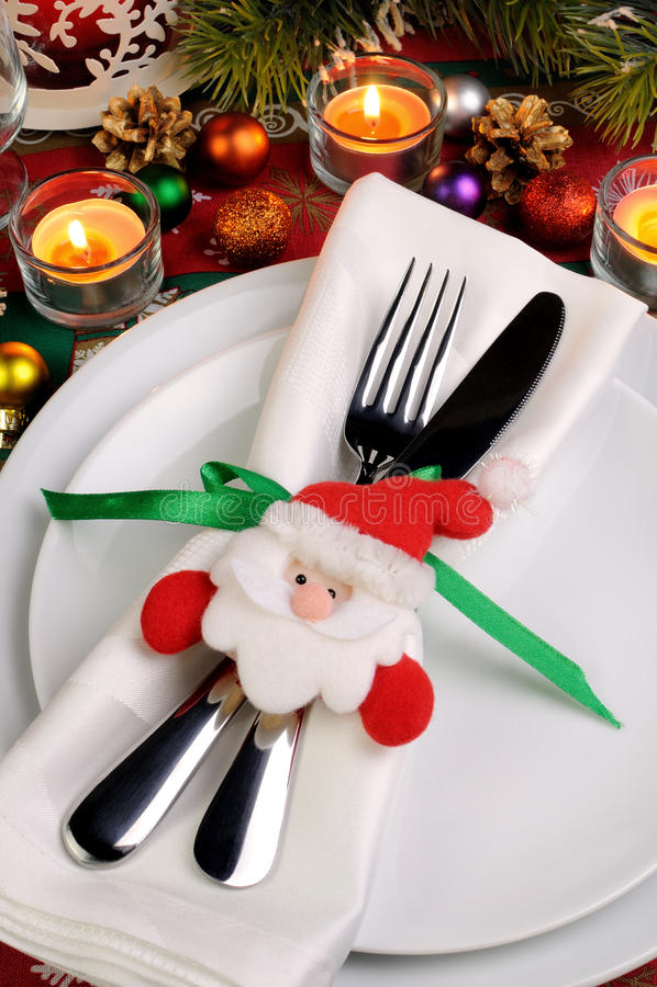 Fragmentumhüllung Weihnachtstabelle stockfotos