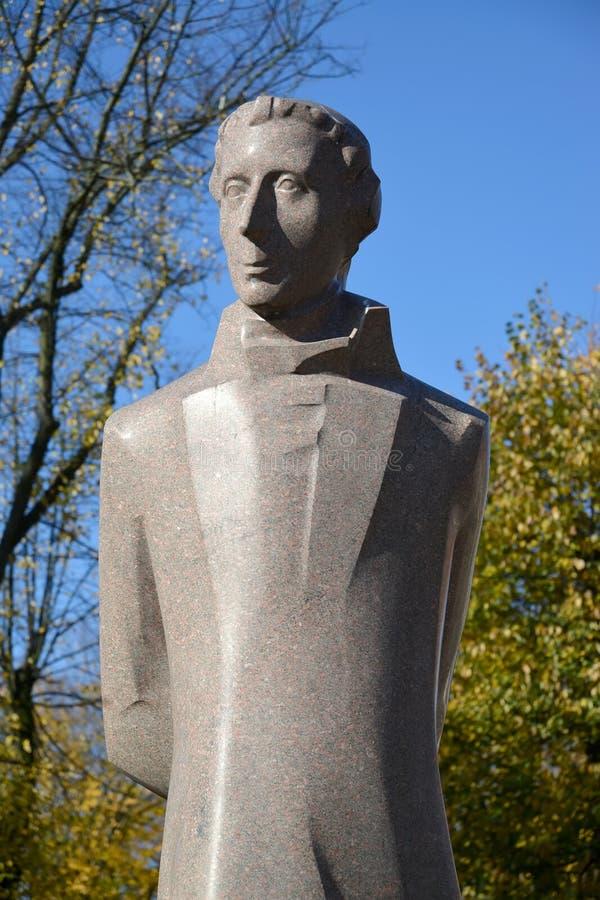 Fragmtnt纪念碑Lyudvikasu礼萨(路德维希礼萨)在加里宁格勒 图库摄影