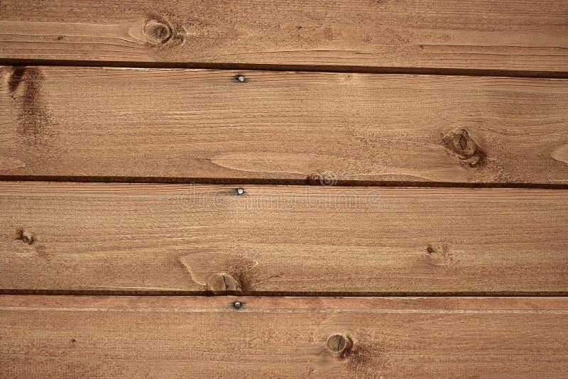 Fragnent der hölzernen Wand mit Nägeln lizenzfreies stockfoto