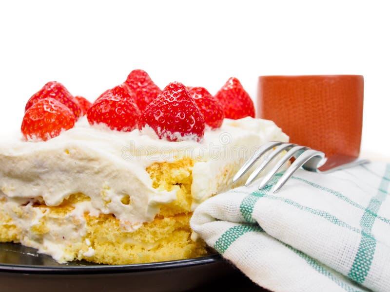 Fragola cake fotografie stock libere da diritti