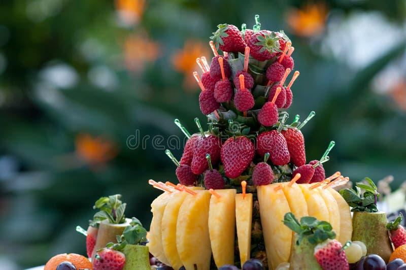 Fragola, canape, alimento di lusso per l'aperitivo fotografia stock