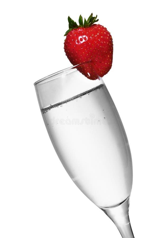 Fragola Champagne immagine stock