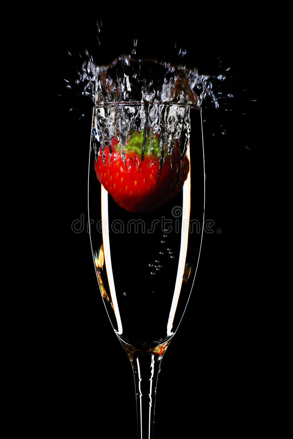 Fragola e champagne fotografie stock libere da diritti