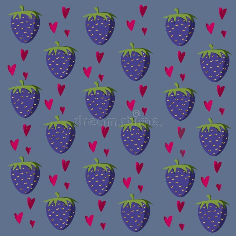 Fragola saporita matura dolce Stagione della bacca illustrazione di stock