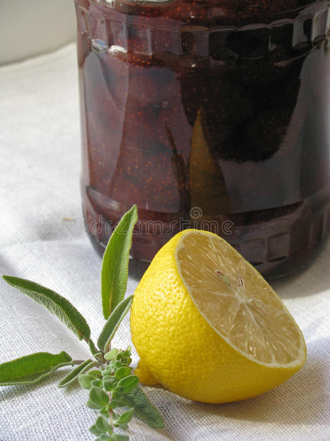 Fragole marinate immagine stock