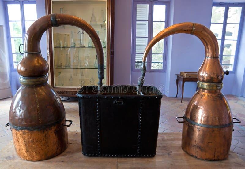 Fragonard香水蒸馏器 图库摄影