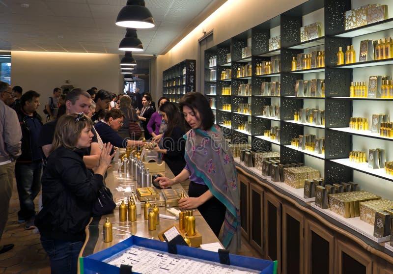Fragonard doft shoppar royaltyfria bilder