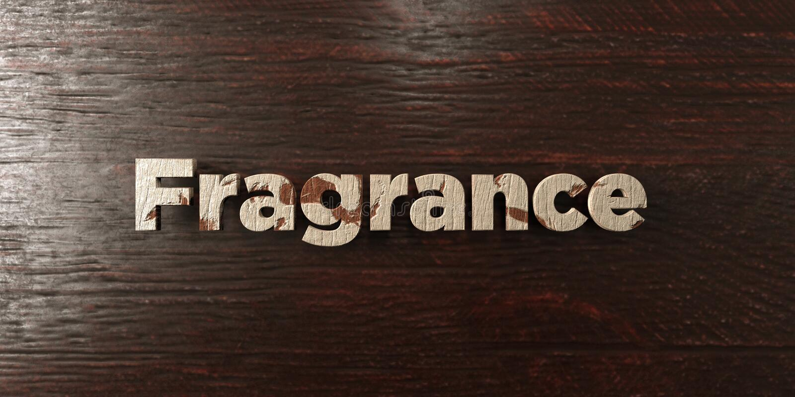 Fragrance - grungy wooden headline on Maple - 3D rendered royalty free stock image royalty free illustration