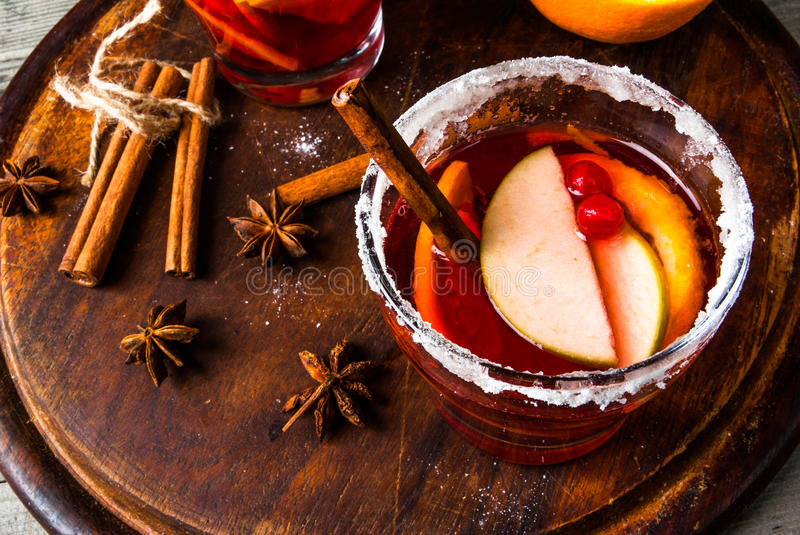 Fragrant autumn and winter sangria stock image