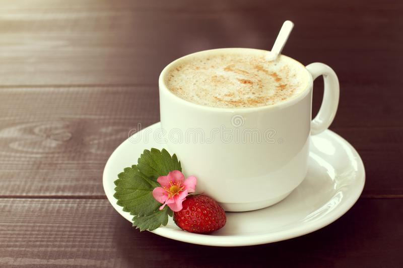 Strawberry Coffee Pause With Mood Stock Image Image Of