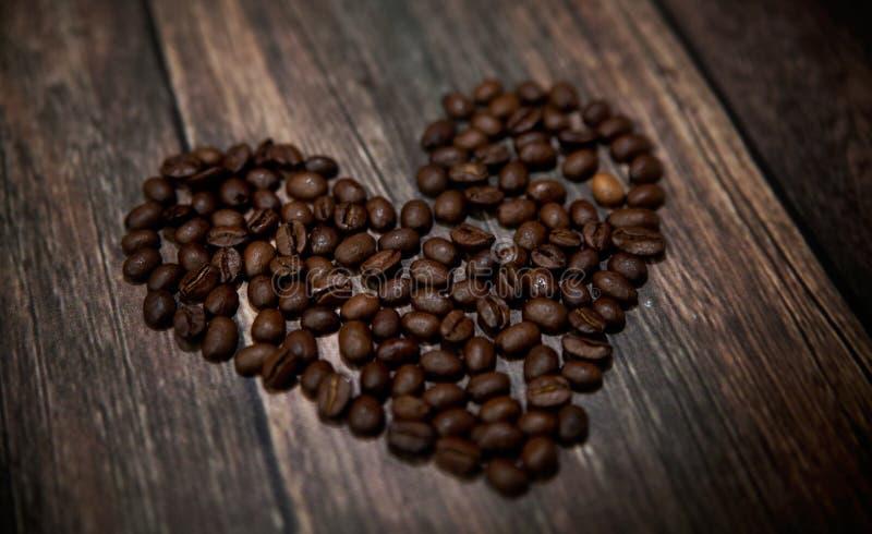 Fragrant Coffee Heart Stock Image