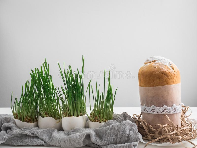 Fragrant cupcake. Preparing for Easter royalty free stock photography