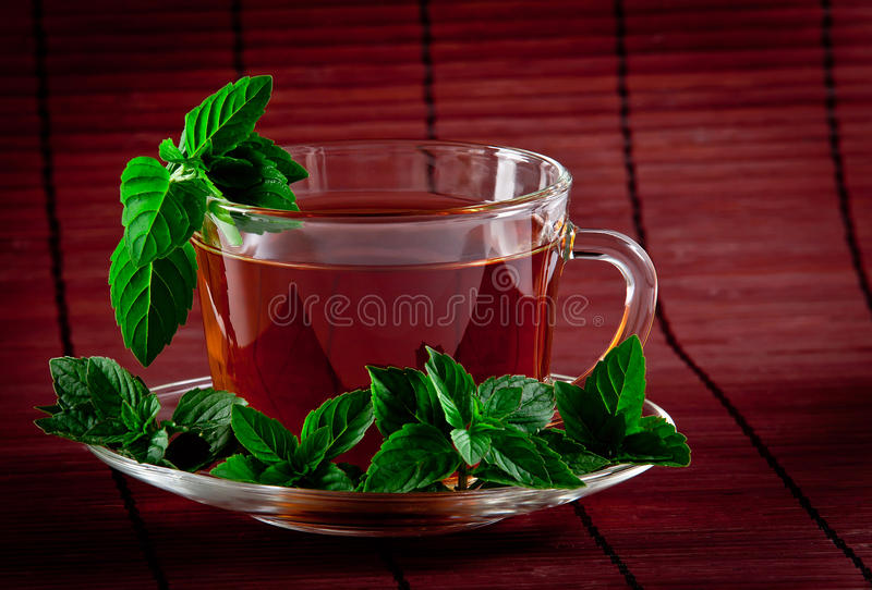 Download Fragrant Tea With Fresh Leaves Of Green Tea Stock Photo - Image: 21830770