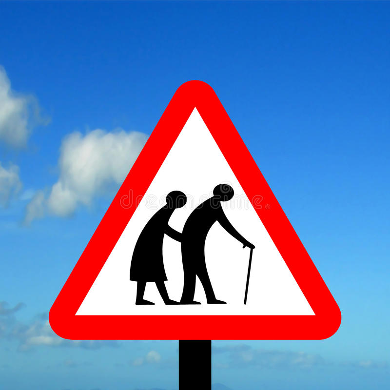 Free Frail Pedestrians Likely To Cross Road Ahead Stock Photo - 41992490