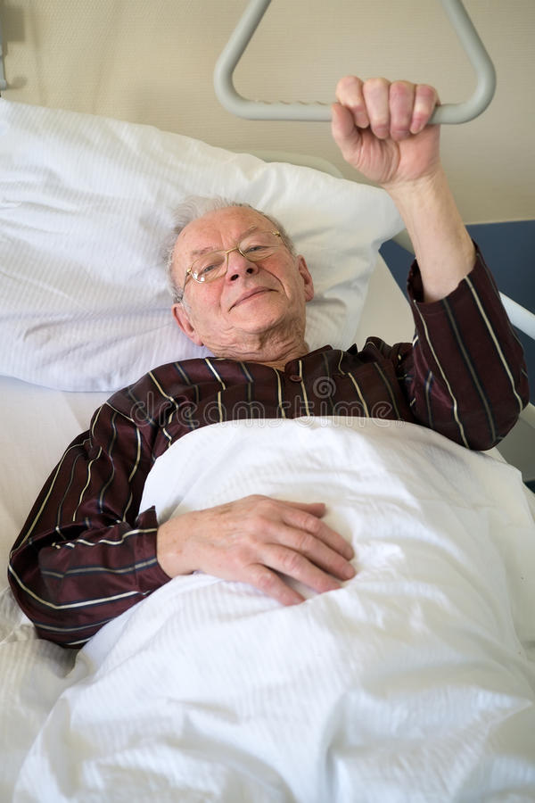 Free Frail Senior Man Lying In A Hospital Bed Royalty Free Stock Photography - 55158257