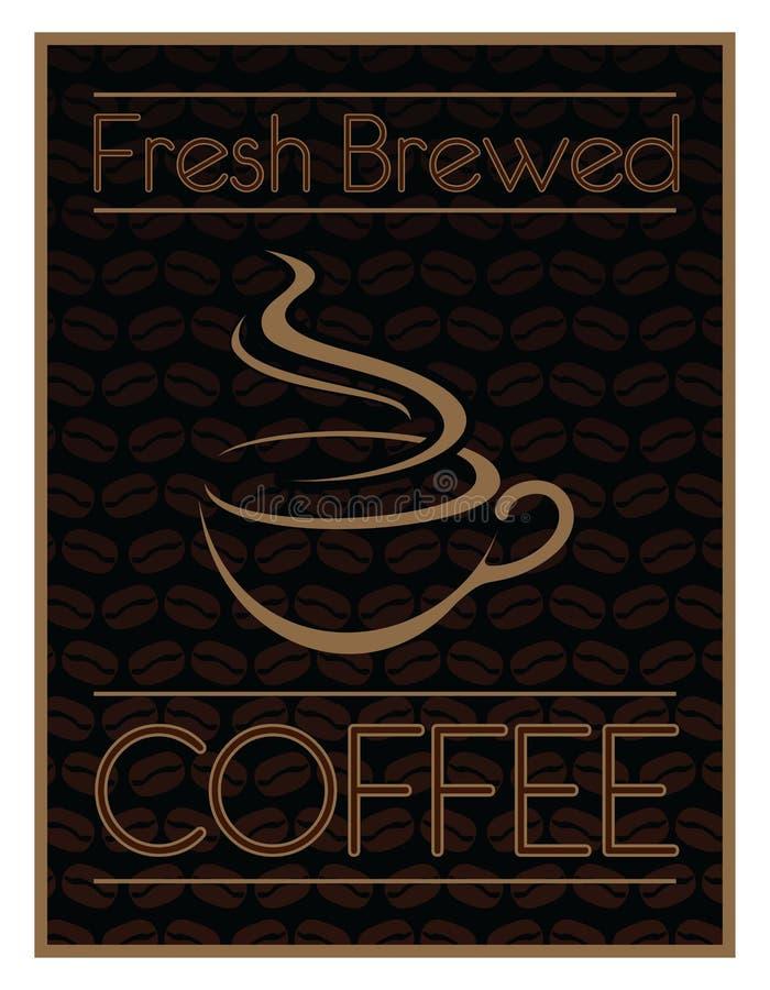 Frais de conception de café brassé illustration de vecteur