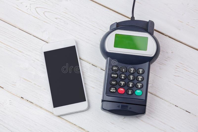 Frais généraux de terminal et de smartphone de goupille image libre de droits
