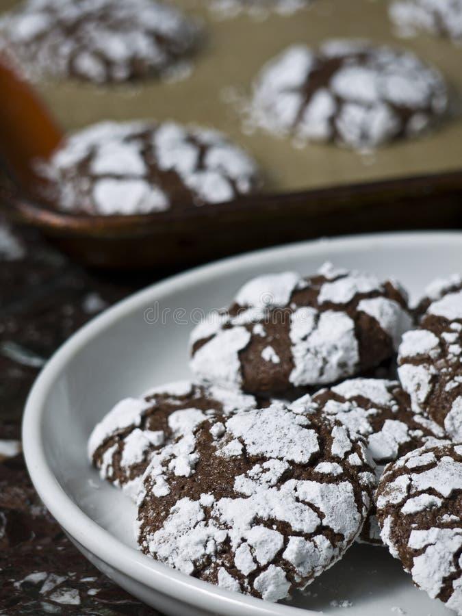 Frais hors des biscuits de four image libre de droits