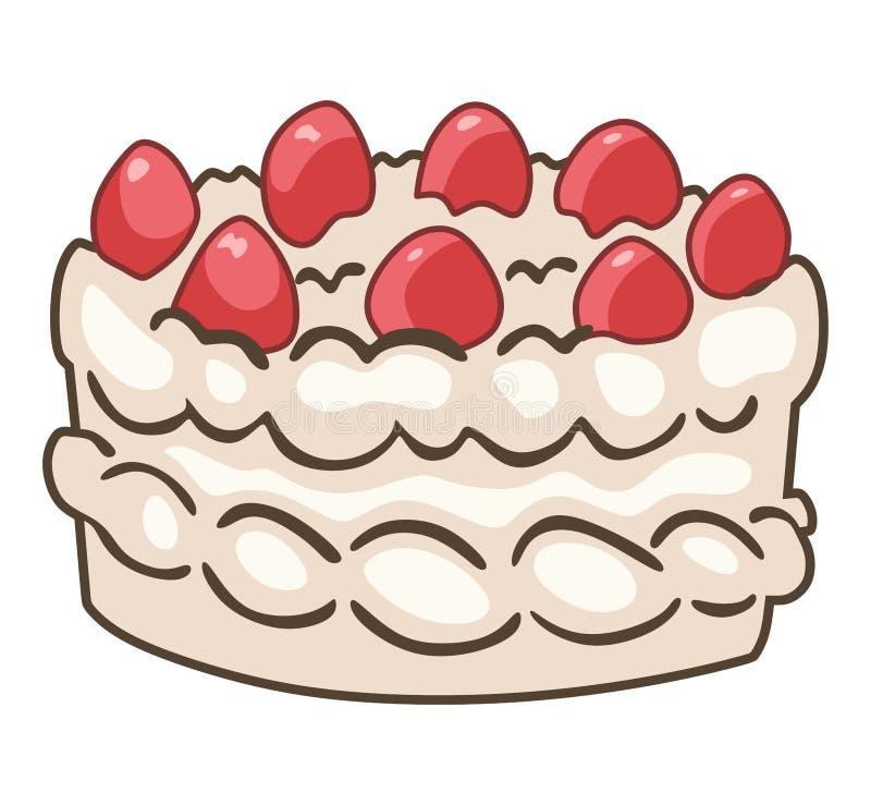 Fraise cake illustration de vecteur