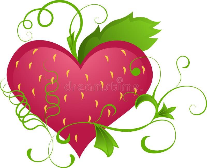 fraises de coeur illustration libre de droits