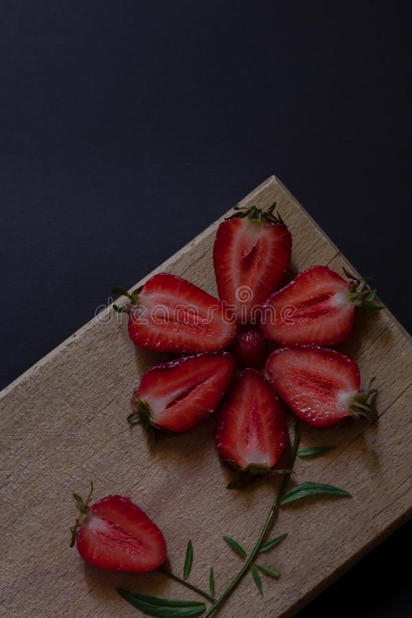 Fraises fraîches Nourriture dénommant l'inspiration Fruit organique photo stock