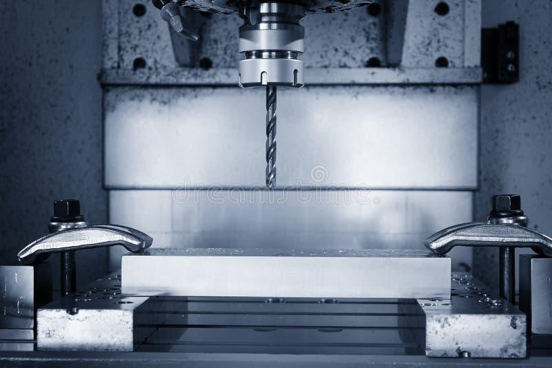 Fraiseuse de commande numérique par ordinateur de travail des métaux Métal de coupe moderne photographie stock
