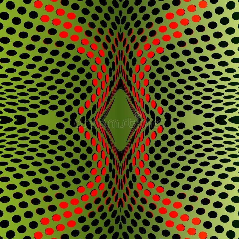 Fraktal green background with dots vector illustration