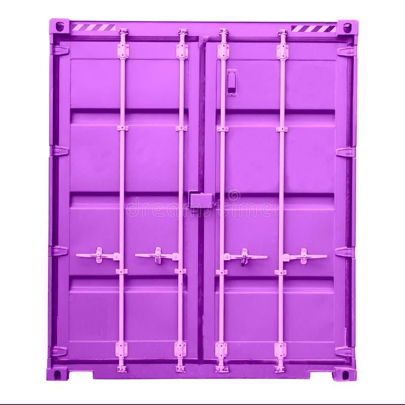 Fraktbehållare som isoleras på vit bakgrund Lastbehållare, trans., fördelningslager royaltyfria foton