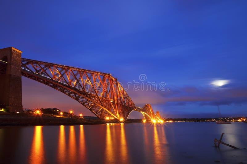 Framåt stångbron, Skottland arkivbild