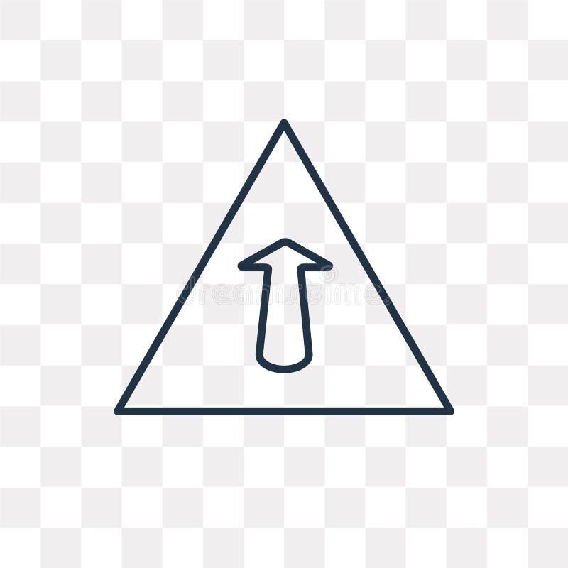 Framåt vektorsymbol som isoleras på genomskinlig bakgrund, linjära Ahe vektor illustrationer