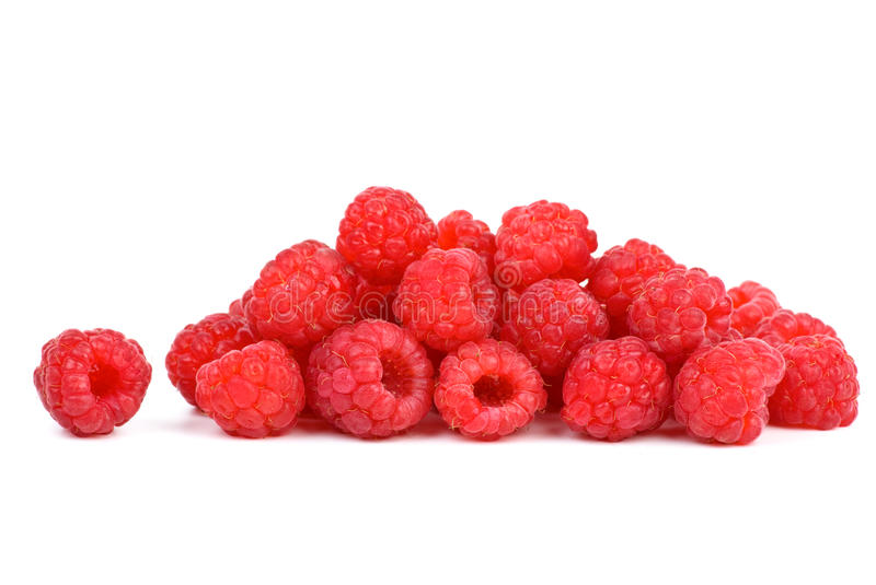 framboises de pile petites photo stock