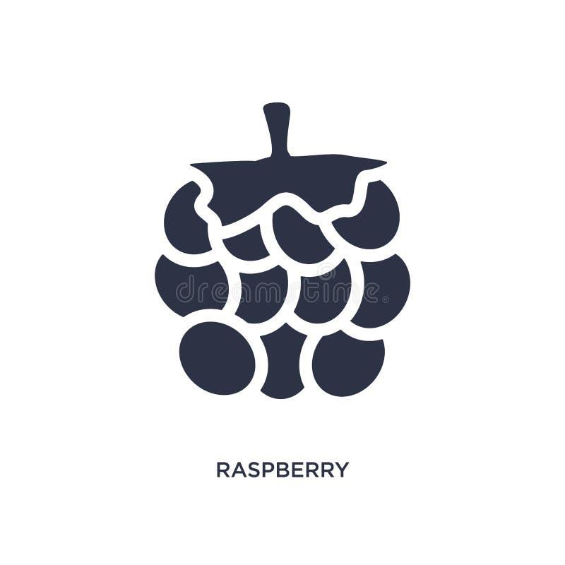 Frambozenpictogram op witte achtergrond Eenvoudige elementenillustratie van vruchten concept stock illustratie