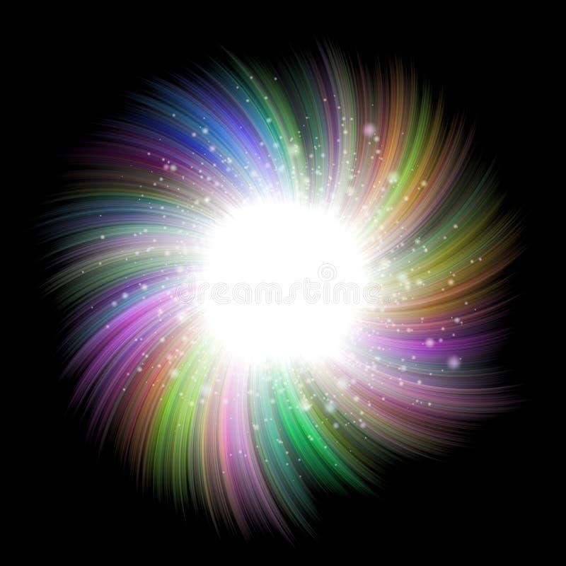 Frambragd hyratextur för bristning stjärna stock illustrationer