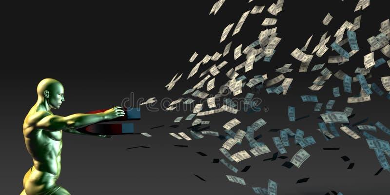 Frambring rikedom stock illustrationer