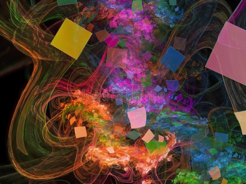 Frambringar härlig gåta för fractalen fantasi för dröm för energistilfantasi genomskinlig, stock illustrationer