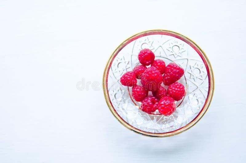 Frambuesas dulces maduras fotografía de archivo libre de regalías