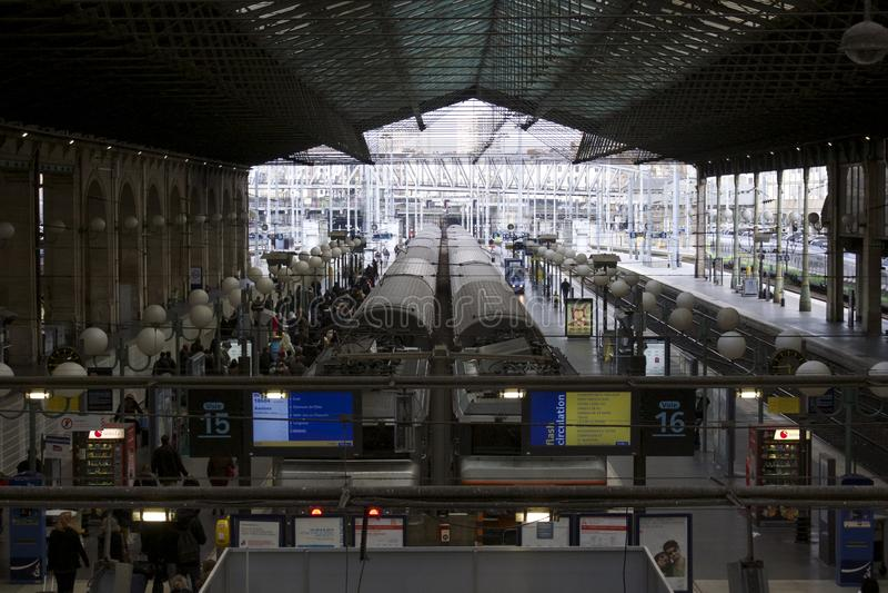 Framce di Gare du nord Parigi immagine stock libera da diritti