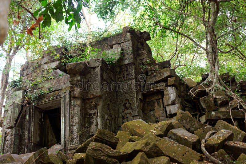 Framdel av Beng Mealea Temple, Cambodja royaltyfri bild