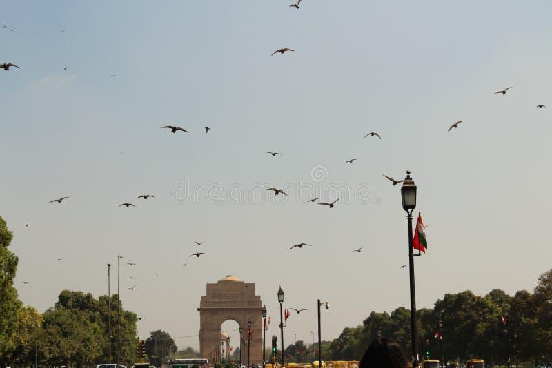 Framdel av den Indien porten arkivbild