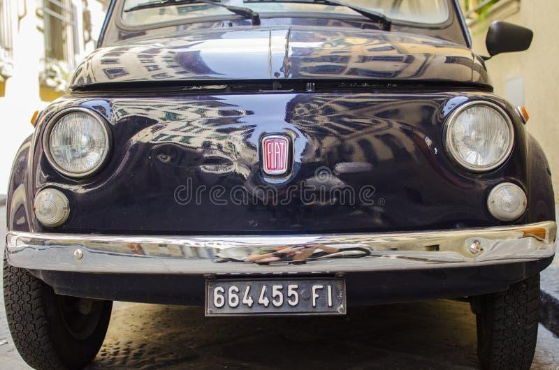 Framdel av en gammal bil royaltyfri fotografi